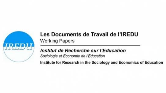 Deux nouveaux documents de travail de l'IREDU sont disponibles !
