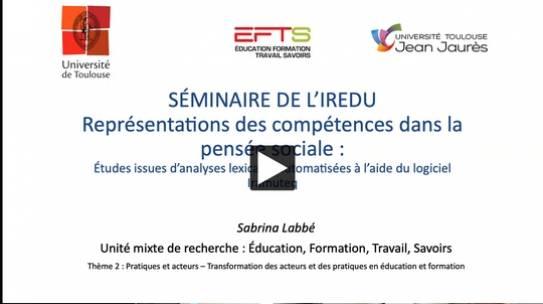 The video of Sabrina Labbé's seminar is online!