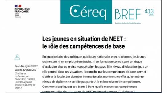 J.F Giret et J. Jongbloed ont écrit le Bref du Céreq n°413